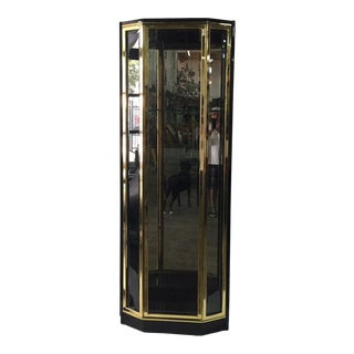 Black Lacquered and Glazed Display Cabinet by Henredon For Sale