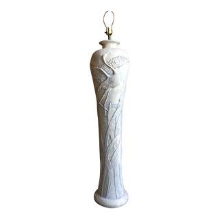 Vintage Sculptural Herons Plaster Floor Lamp C. 1980s For Sale