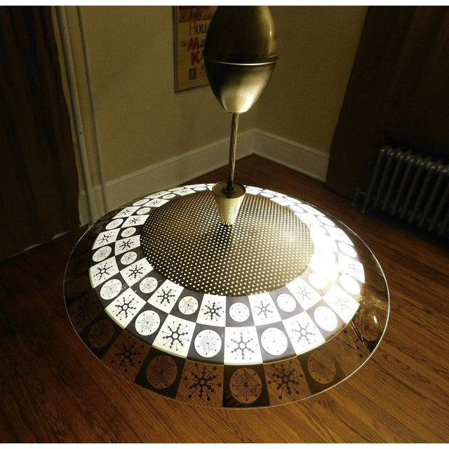 Lightoleir Mid-Century Retractable Atomic Saucer Chandelier - Image 3 of 6