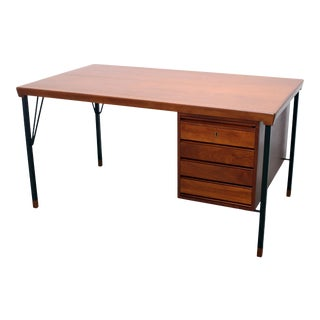 Vintage Danish Modern Arne Vodder for Jon Stuart Teakwood Writing Desk For Sale