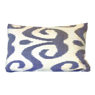 Contemporary Silk Lumbar Pillow. Violet. For Sale