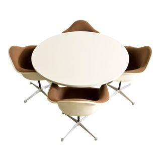 Mid-Century Eames Herman Miller Aluminum Group Dining Set For Sale