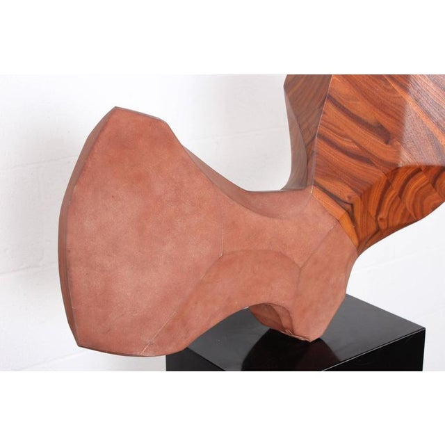 Large Stone and Walnut Sculpture For Sale In Dallas - Image 6 of 10