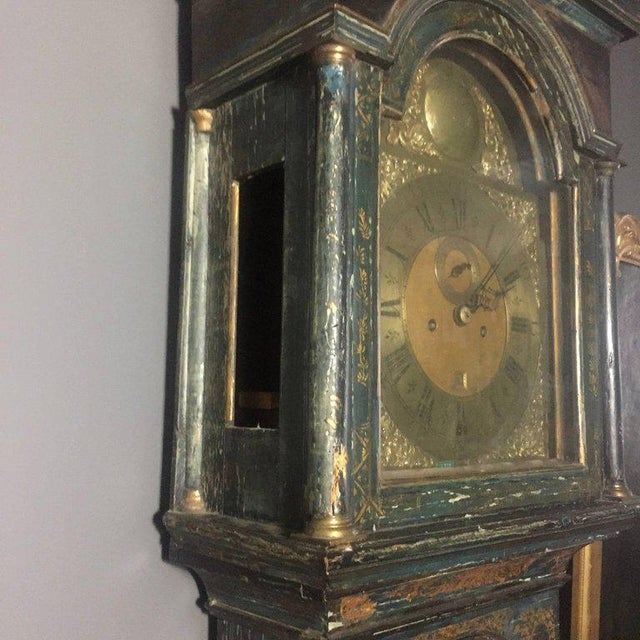 Standing just under 7 1/2 feet - this incredible tall case or grandfather clock was made in the mid-to-late 1700s in...