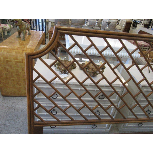 King Size Rattan Chippendale Headboard - Image 3 of 6