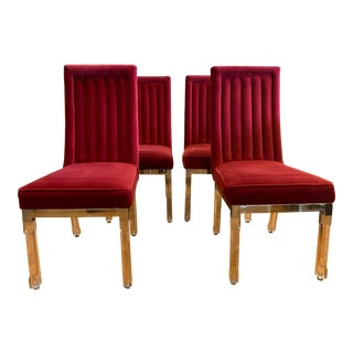 Late 20th Century Charles Hollis Jones Chairs- Set of 4 For Sale