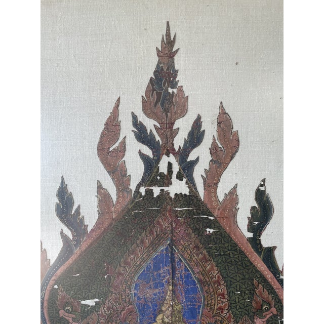 Beautiful tall, and heavy 20th century textile Indonesian art rich in details. This art represents the spiritual principle...