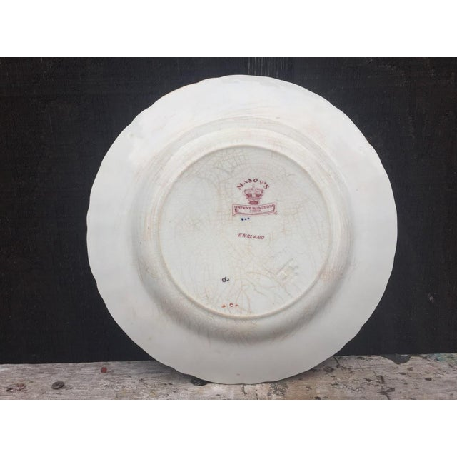 Mason's Ironstone England Plate For Sale - Image 6 of 8