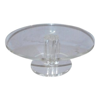 1950s Mid-Century Modern Lucite Cake Stand For Sale
