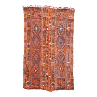 "Vintage Samawa Woven Rug - 59"" x 98"" For Sale"