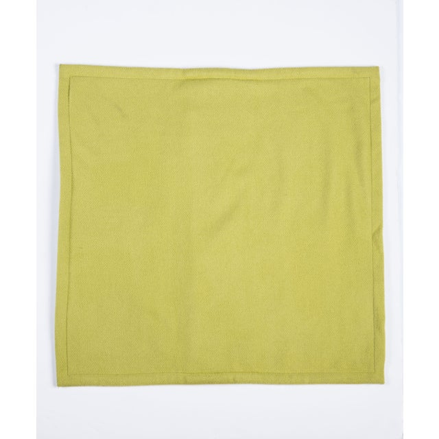 Room & Board Washable Wool Shams in Chartreuse - Image 3 of 6