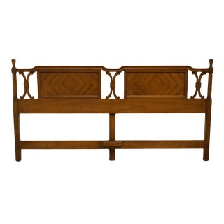 Late 20th Century American of Martinsville Italian Neoclassical Style Bookmatched King Size Headboard For Sale