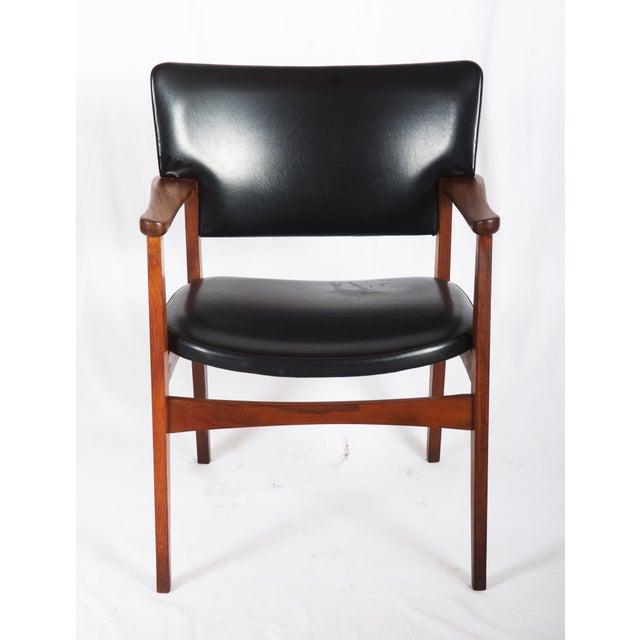 Wood Scandinavian Armchair Attributed to Erik Kirkegaard For Sale - Image 7 of 8