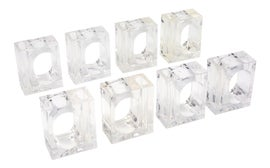 Image of Lucite Napkin Rings