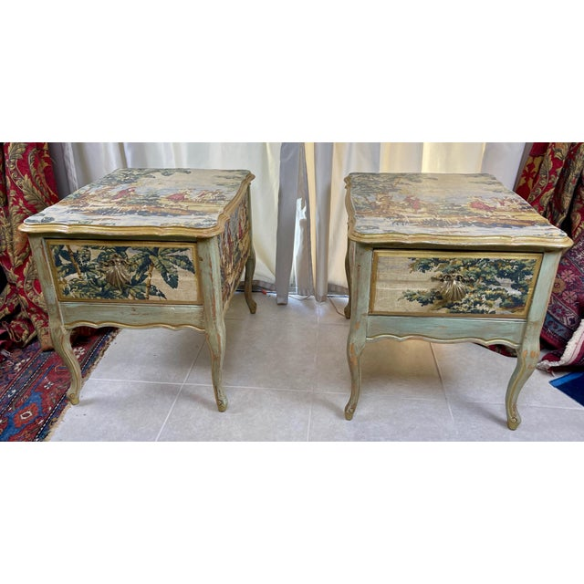 1960s Night Stands Decoupaged With Idyllic Scene - a Pair For Sale - Image 11 of 11