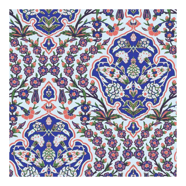 Ottoman Large Wallpaper Remnant - Image 1 of 3