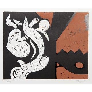 Charlie Hewitt, G, Woodblock For Sale