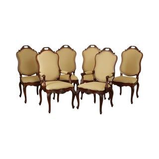 Henredon Louis XV Style Set 6 Dining Chairs For Sale