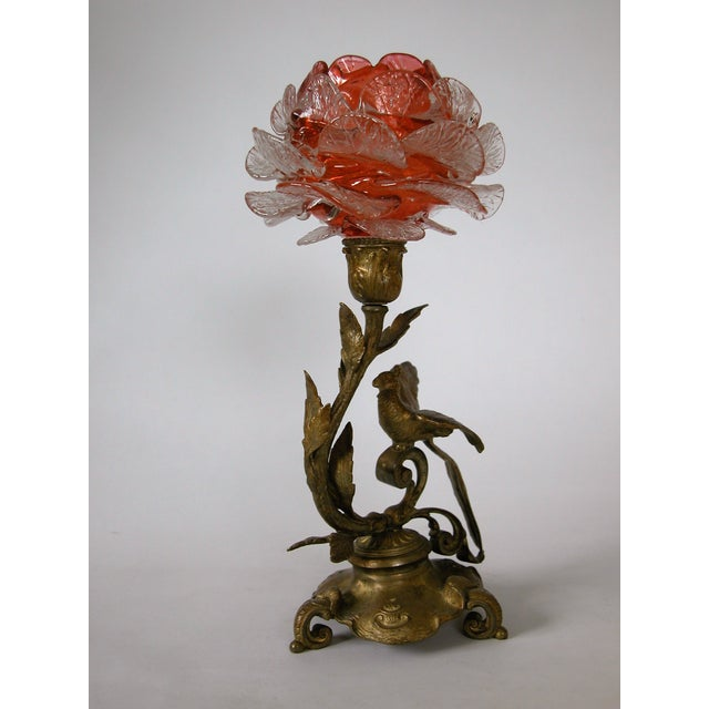 19th C. French Gilded Bronze & Glass Epergne - Image 4 of 8