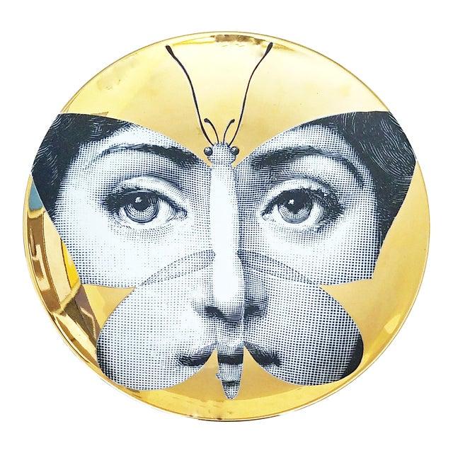 Fornasetti Gold Tema E Variazioni Plate - Image 1 of 4