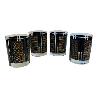 Vintage Georges Briard Lowball Cocktail Glasses - Set of 4 For Sale