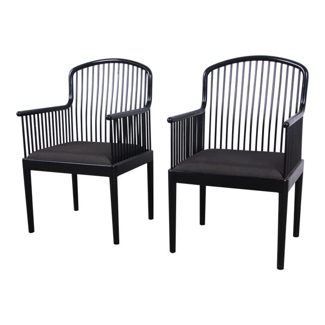 Stendig Andover Black Spindle Armchairs - a Pair For Sale