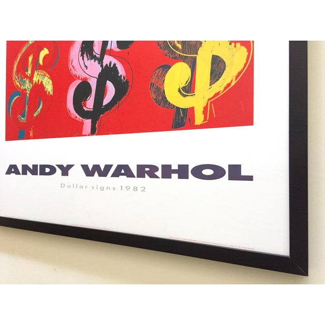 """Andy Warhol Estate Rare Vintage 1989 1st Edition Lithograph Print Large Framed Pop Art Poster """" Dollar Signs """" 1982 For Sale - Image 12 of 13"""