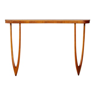 1960s Mid Century Oak Wall Console For Sale