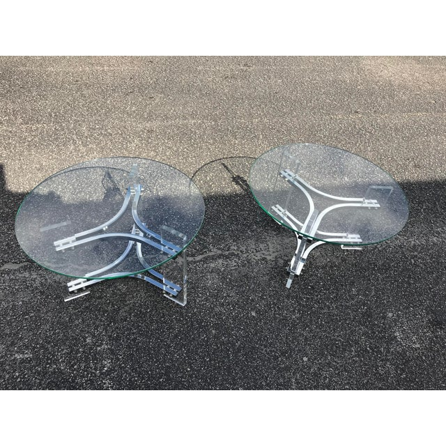 Milo Baughman Mid Century Modern Tables - a Pair For Sale - Image 4 of 4