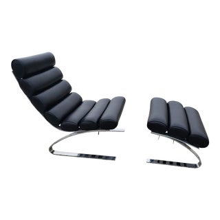Design Institute of America Lounge Chair and Ottoman For Sale