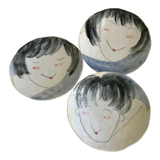 Artisan Bowls With Faces - Set of 3