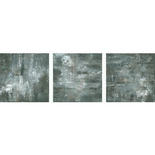 """Sacred"" Wabi Sabi Original Modern Triptych Monochrome Paintings ~ Set of 3 For Sale"