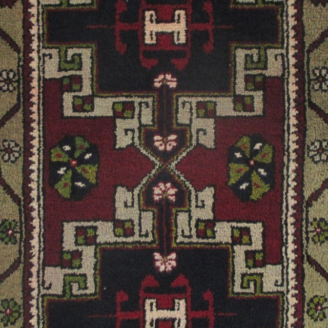 "These simple, hand-knotted rugs, called ""yastik,"" are woven primarily in the eastern part of Turkey, often by Kurdish..."