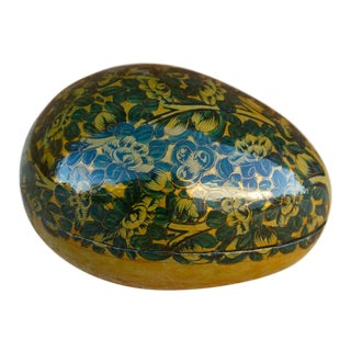 Kashmiri Egg Shaped Box For Sale