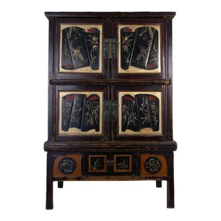 Antique Chinese Carved Zhejiang Armoire For Sale