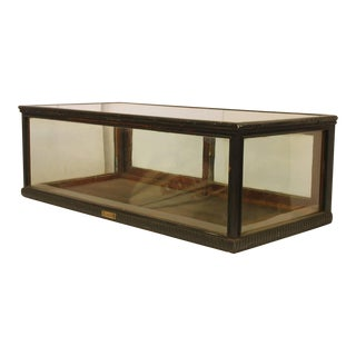 Late 19th C. Antique Carved Wood Tabletop Display Showcase For Sale
