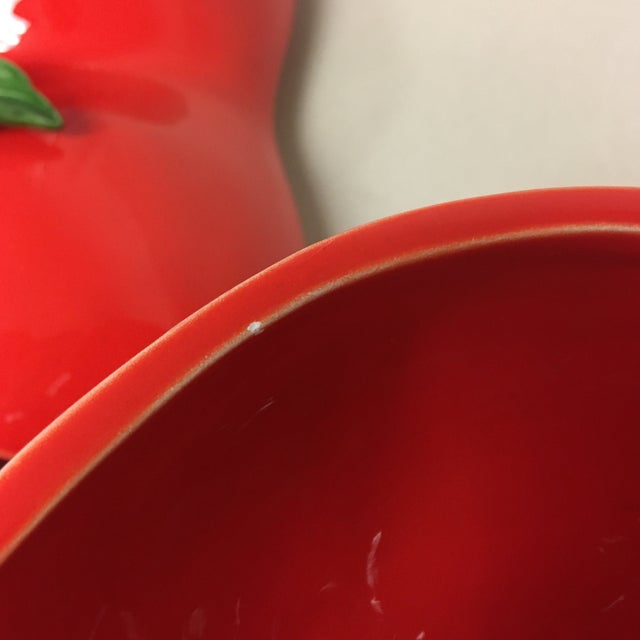 Scarlet Fitz & Floyd Large Tomato Tureen with Ladle For Sale - Image 8 of 11