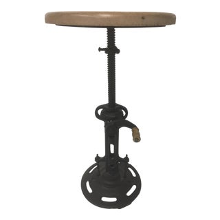 Industrial Mid-Century Contemporary Adjustable Stool