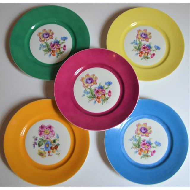 Vintage Richard Ginori Italian Botanical Porcelain Plates - Set of 5 For Sale In Houston - Image 6 of 12