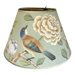 "De Gournay Earlham in Sung Blue 14"" Lamp Shade For Sale"