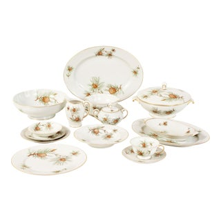 Vintage Rosenthal China Pine Needles Dinnerware Set - Service for 12 - Set of 94 For Sale