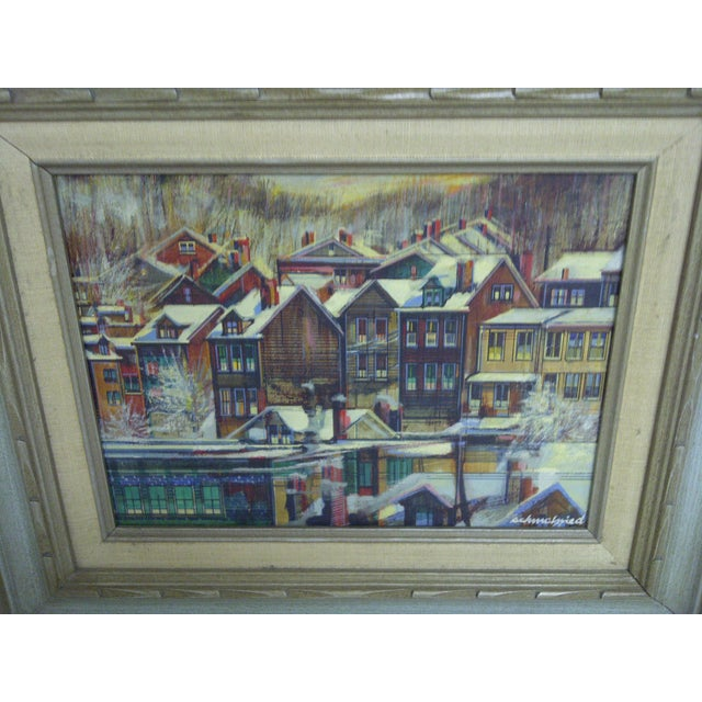 "Rustic ""Row Houses Pittsburgh"" by Robert Schmalzried For Sale - Image 3 of 6"