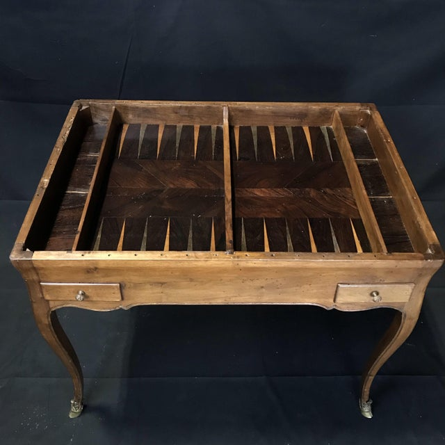 Wood 19th Century Antique Walnut Game or Side Table For Sale - Image 7 of 12
