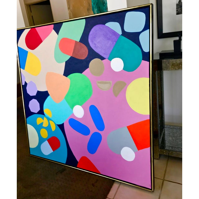 Abstract Mid-Century Inspired Painting by Tony Marine For Sale - Image 3 of 5