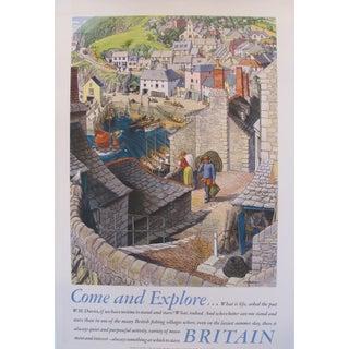 """1953 Original Travel Poster """"Explore Britain"""" For Sale"""