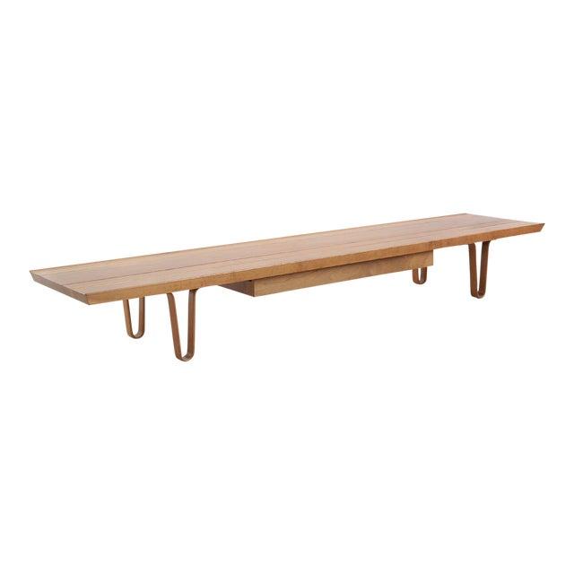 Edward Wormley Long John Bench/ Table by Dunbar - Image 1 of 9
