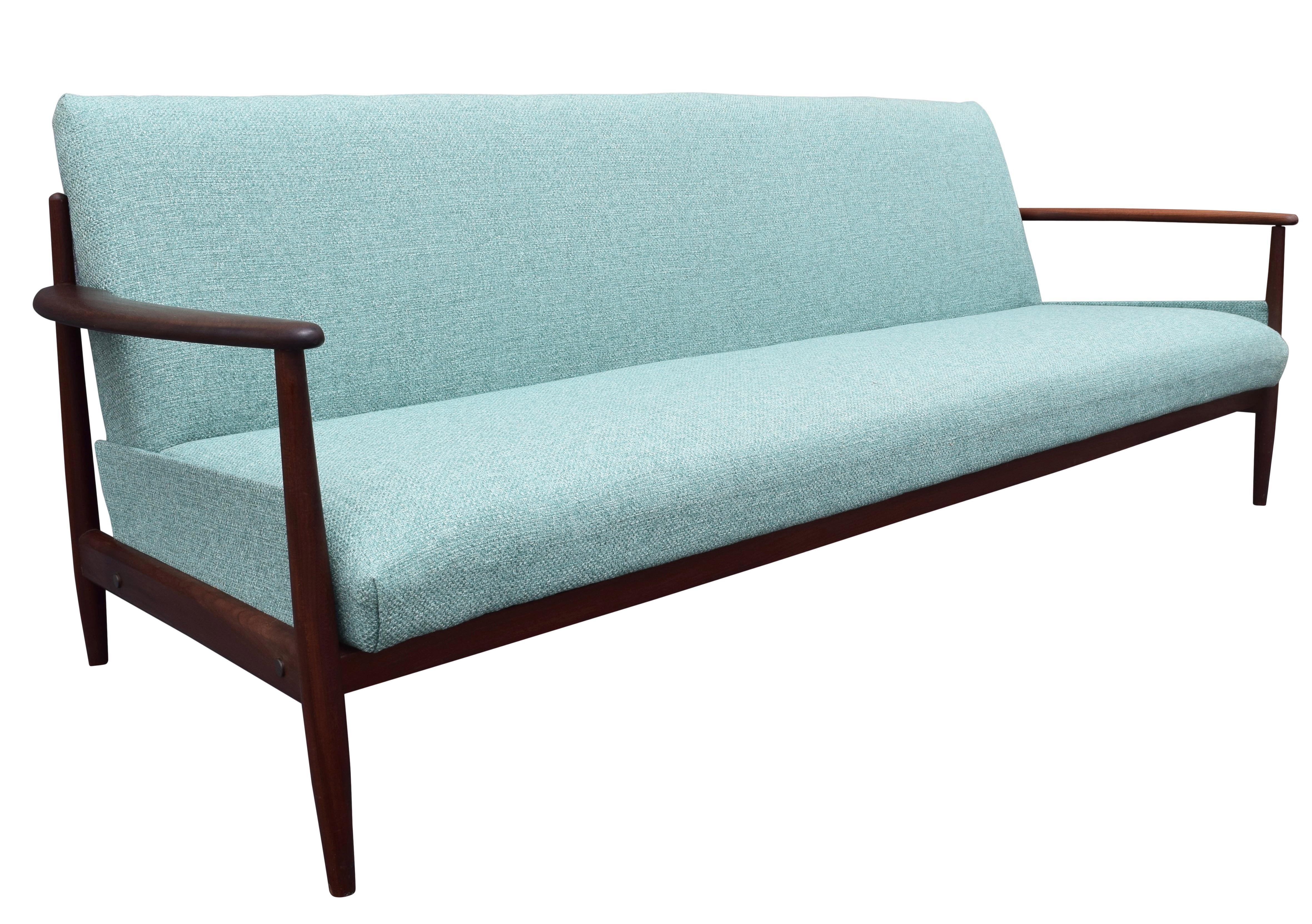 Vintage Danish Modern Teak Sofa In The Manner Of Grete Jalk For Sale