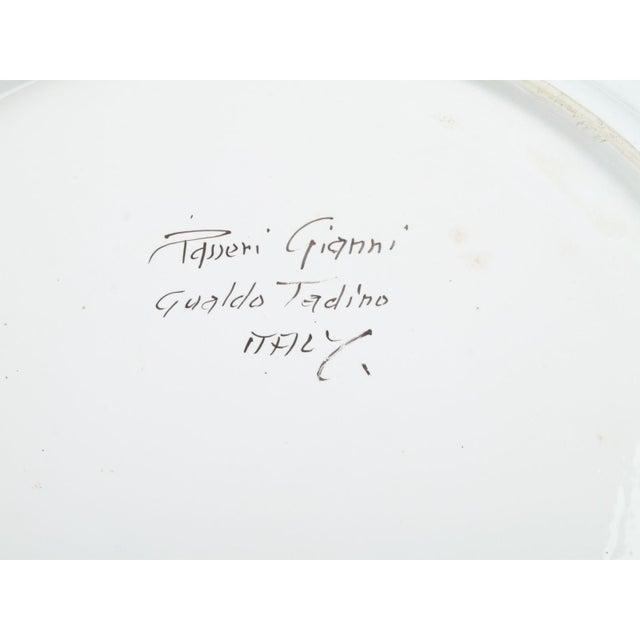 Italian Italian Ceramic Fruit Plate For Sale - Image 3 of 3