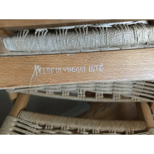 Hans Wegner Style Rope Lounge Chair & Ottoman - A Pair - Image 9 of 9