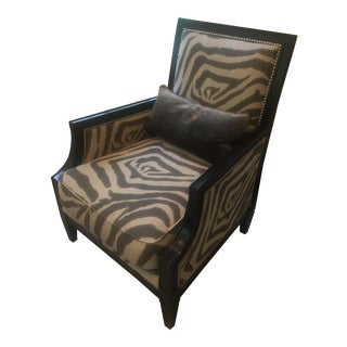 Zebra Print Club Chair